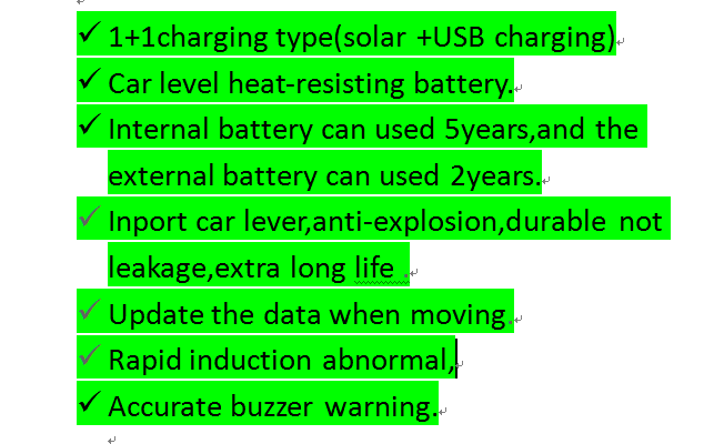 Smart Car TPMS Tyre Pressure Monitoring System Solar Power charging Digital LCD Display Auto Security Alarm Systems