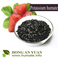 China Supplie Nice Organic Fertilizer 100% Soluble Potassium Humate / Humic acid 55-70% / Fulvic Acid Powder Crystals Pellet