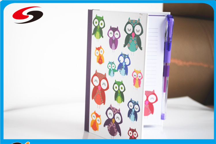 Sticky Notes Folder Fancy Notebook with Sticky note, colorful cute Notebook with leaf-it