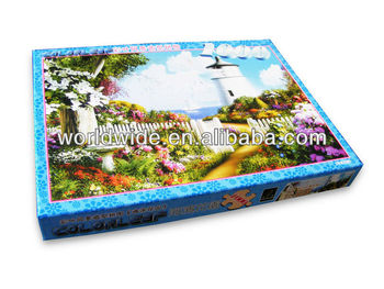 1000pcs Scenery Shape HOT promotional jigsaw puzzle/puzzle gifts