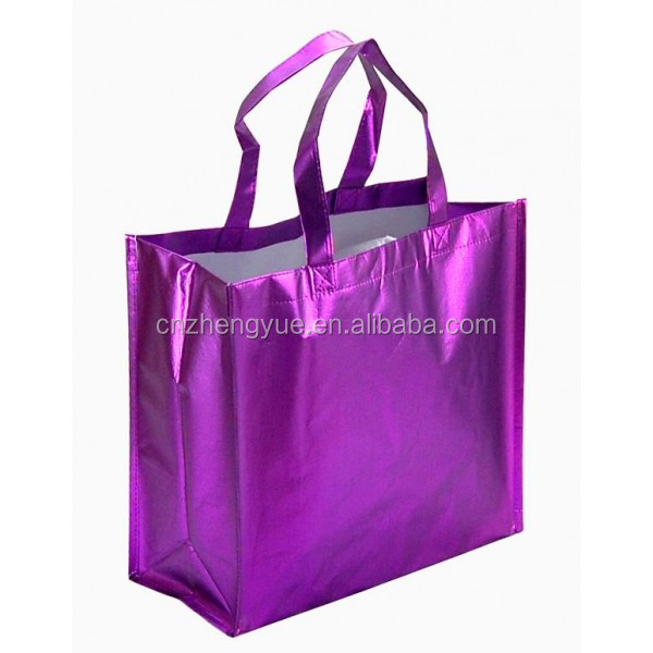 PP fashion laminated non woven toe bag for shopping and promotion