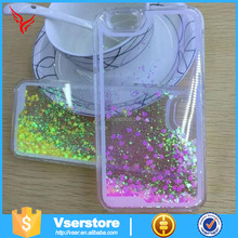 Glitter free flowing liquid star clear mobile phone case for iphone 5G