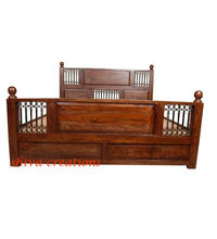 Wooden bed for hotel furniture