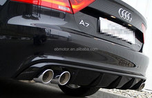 REAL CARBON FIBER MTM Rear Diffuser Fit For Audi A7 Non-Sline Bumper 2011-2014 A044