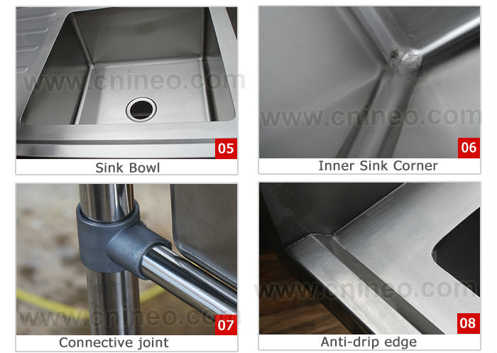 Kitchen Sinks Stainless Steel/Stainless Steel Sink For Kitchen/Free Standing Sink