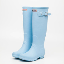beautiful color knee high rubber rain boots wellington boots for women fashion