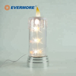EVERMORE LED battery powered glass bottle decoration table lamp with usb port