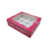 Fushia Color Printing 12 Cups Cake Box With Transparance Window For Cake Packaging