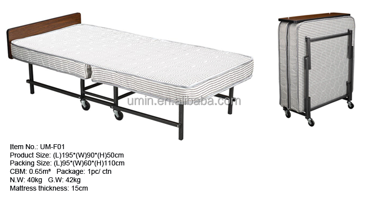 Used Hotel Furniture Folding Extra Bed For Sale