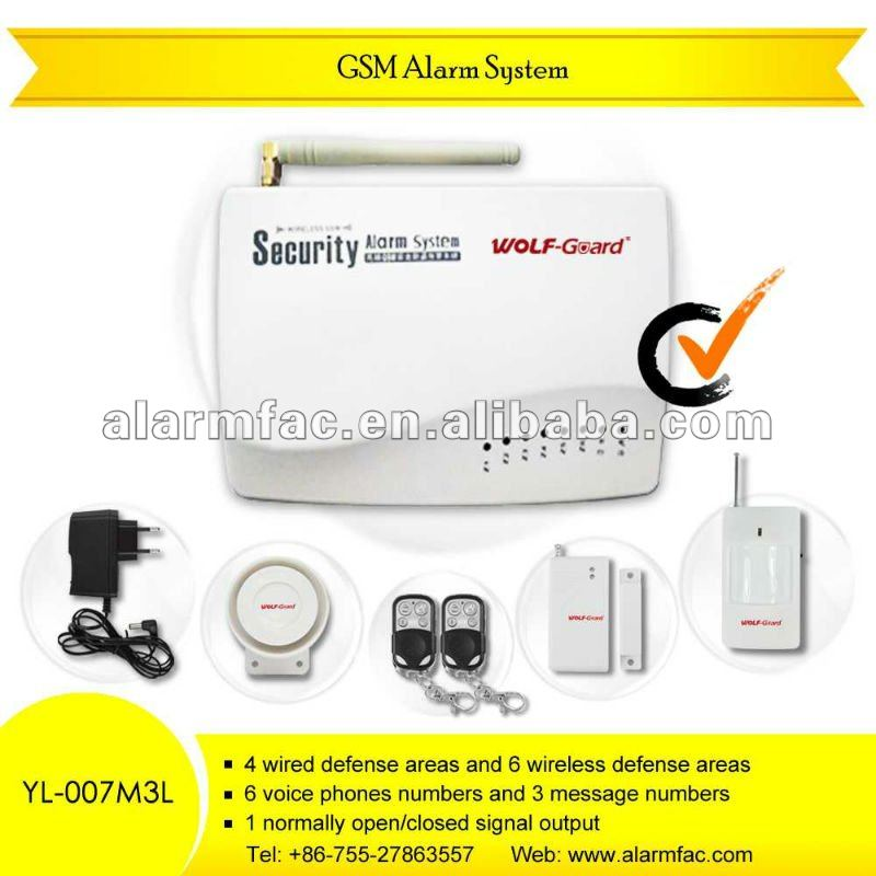 wireless intrudergsm frequency 850/900/1800/1900mhz wireless alarm/wireless gsm safe home alarm /gsm home intruder alarm