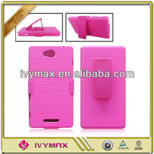 for sony S39H xperia C holster cellphone case