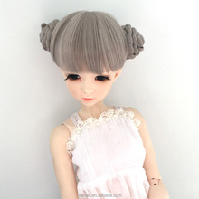 cheap short elegant gray synthetic doll wig paly wig for kids london girl wig