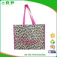 Popular reusable cheap waterproof laminated shopping bag with zipper