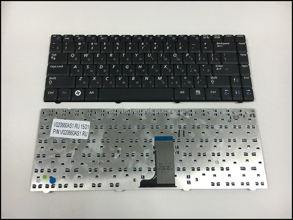 For Samsung R517 NP-R519 R519 V020660AS1 RU Black Keyboard