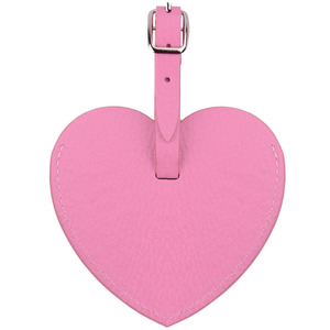 Heart Shaped Personalized Leather Luggage Tags Wedding Favor