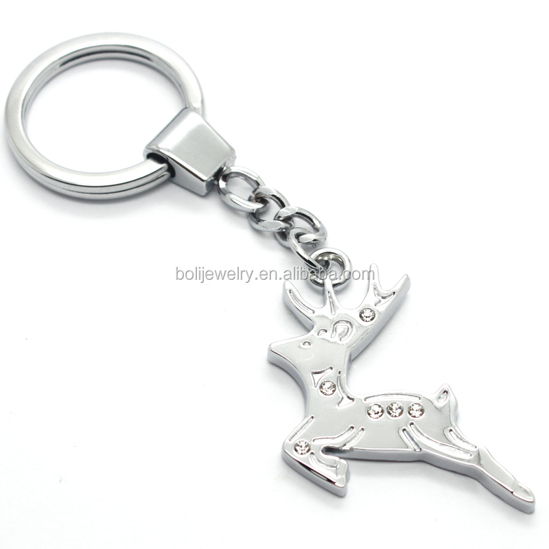 Christmas Gifts and Decorations Metal Deer Designs Key Chain And Pendant