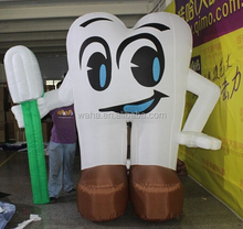 8ft/2.5m giant/custom/large/inflatable teeth replica/model/character/figure/for event/party decoration/outdoor advertising W941