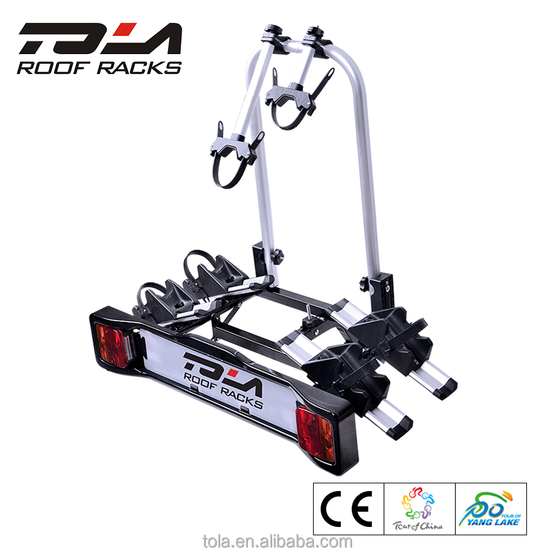 New 2018 TOLA tow bar mounted bike carrier 2 bike trunk rack hitch mount