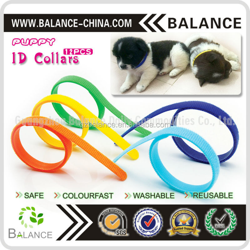 Color whelo collars, pet puppy ID collars
