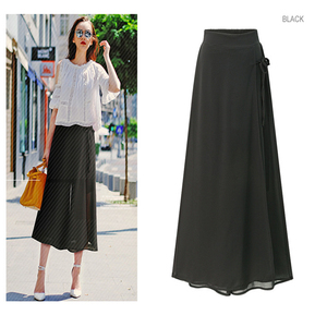 women plus size chiffon pant loose wide leg capris spring summer casual trousers tired fashion 4sizes