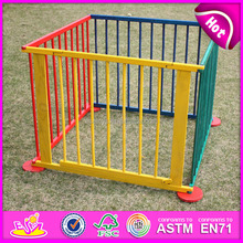 2015 hot wood folding baby playpen,Round or Square luxury baby fence,High quality large playpen for babies W08H006