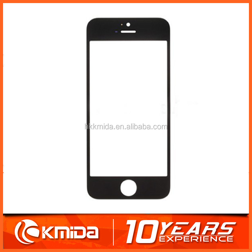 Black White High Quality New Outer Glass for iPhone 5/ 5G LCD Touch Screen Digitizer Front Glass Lens