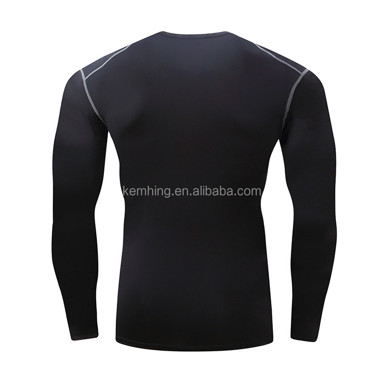 fitness clothing men fast dry Fit T-shirt Mens Compression gym wear men