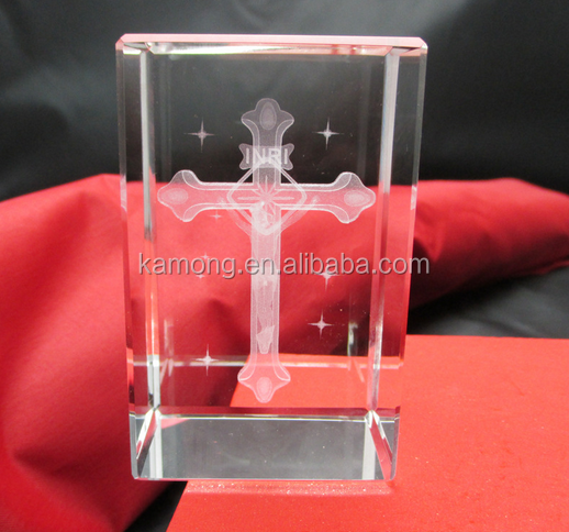 cheap Optical Cross Crystal Christian Gifts For Guest Souvenirs