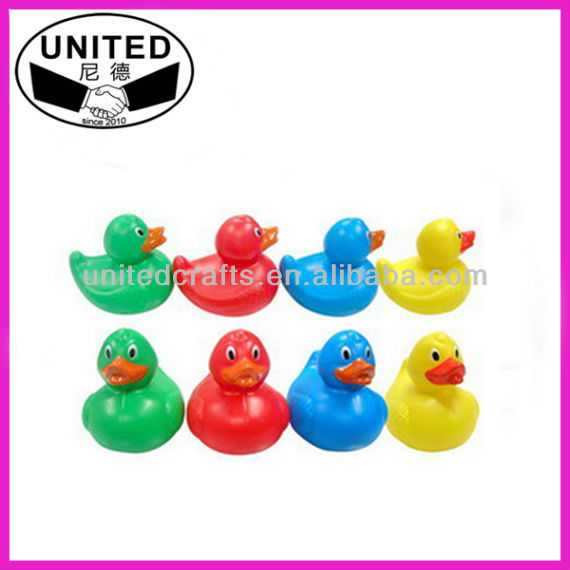 Promotional colorful small yellow floating plastic duck