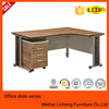 Metal frame wooden desk top office table, executive desk for office use