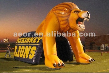 New&Hot Giant Lion inflatable tunnel for baseball with free blower