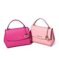 Factory supply attractive price genuine leather shoulder handbags