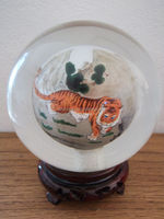 Large & Fabulous Hand Painted Crystal Ball MH-8195