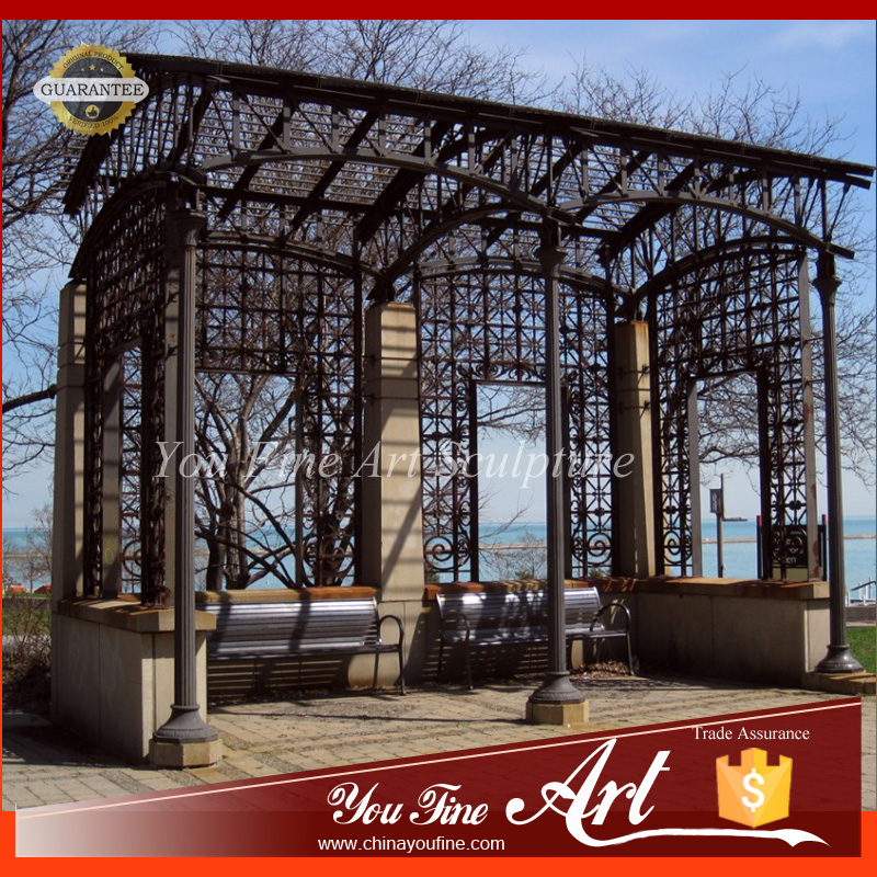 Big Garden Wrought Iron Gazebo for Sale