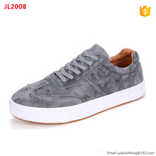 China factory man suede upper skate sneaker skating board shoes