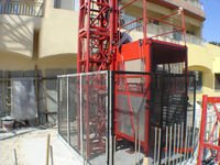 supply passenger hoists SC200/200, double cage electric hoist, building material lift.2 cage load 4 ton.