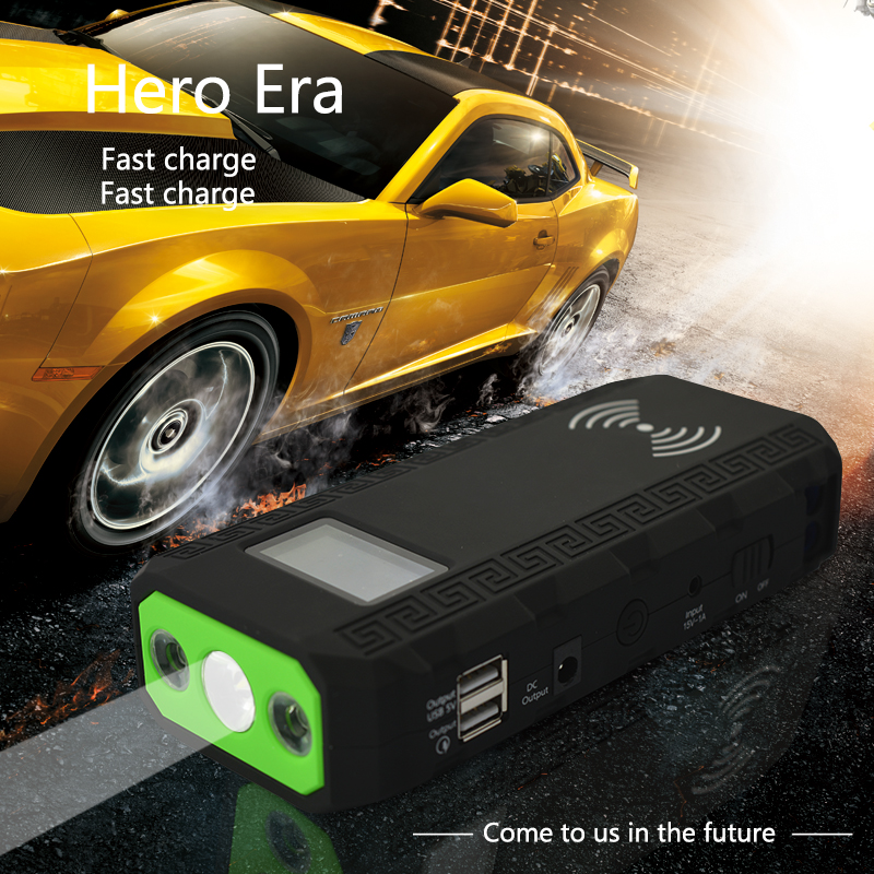 Lastest Popular high quality 12000mah car jump start power wireless charger