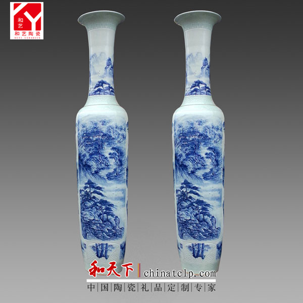 Qing Dynasty antique porcelain ceramic hand-painted floor vase