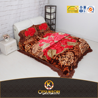 2016 New Design Mink quality of Raschel 4PCS Blanket bedroom set manufacturer in China