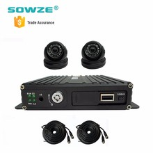 Free Cms Software h.264 dvr player MDVR Set For Travel Trailer And Shuttle Bus