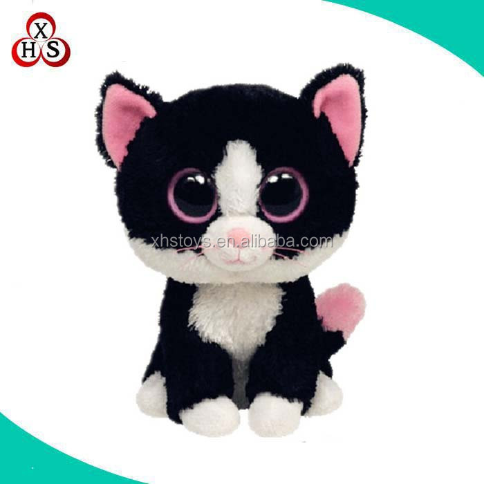 2016 Custom soft plush battery operated plush animals battery operated toy cat
