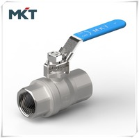 "WenZhou Manufacturer 3/4"" 316 Stainless Steel 2PC Mini Ball Valve With Female Threaded End"