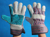 canadian rigger gloves cow split leather working gloves