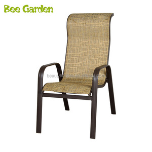 outdoor Sling aluminum High Back Stacking Dining Arm Chair