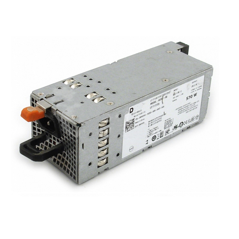 Genuine For Dell PowerEdge R710 570Watt Power Supply 0MYXYH A570P-00