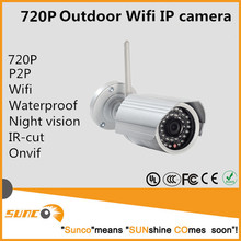 720P outdoor hd smart home Network Wifi IP Camera with memory slot