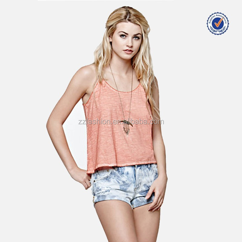 China Manufacturers Cheap Ladies Spaghetti Strap Jersey Knit Tank Top