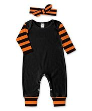 newest baby girls halloween romper with headband