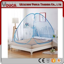 Blue color 200*200*145 half bottom double door 100%Polyester Automatic mosquito nets for camping