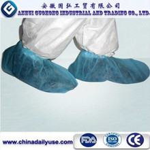 elastic around ankle disposable blue transparent shoe covers